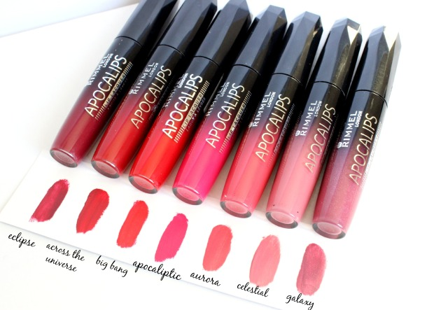rimmel apocalips makeup lipsticks