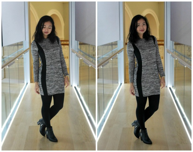 boohoo outfit ootd fashion dress boots