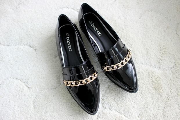 boohoo haul fashion shoes loafers flats