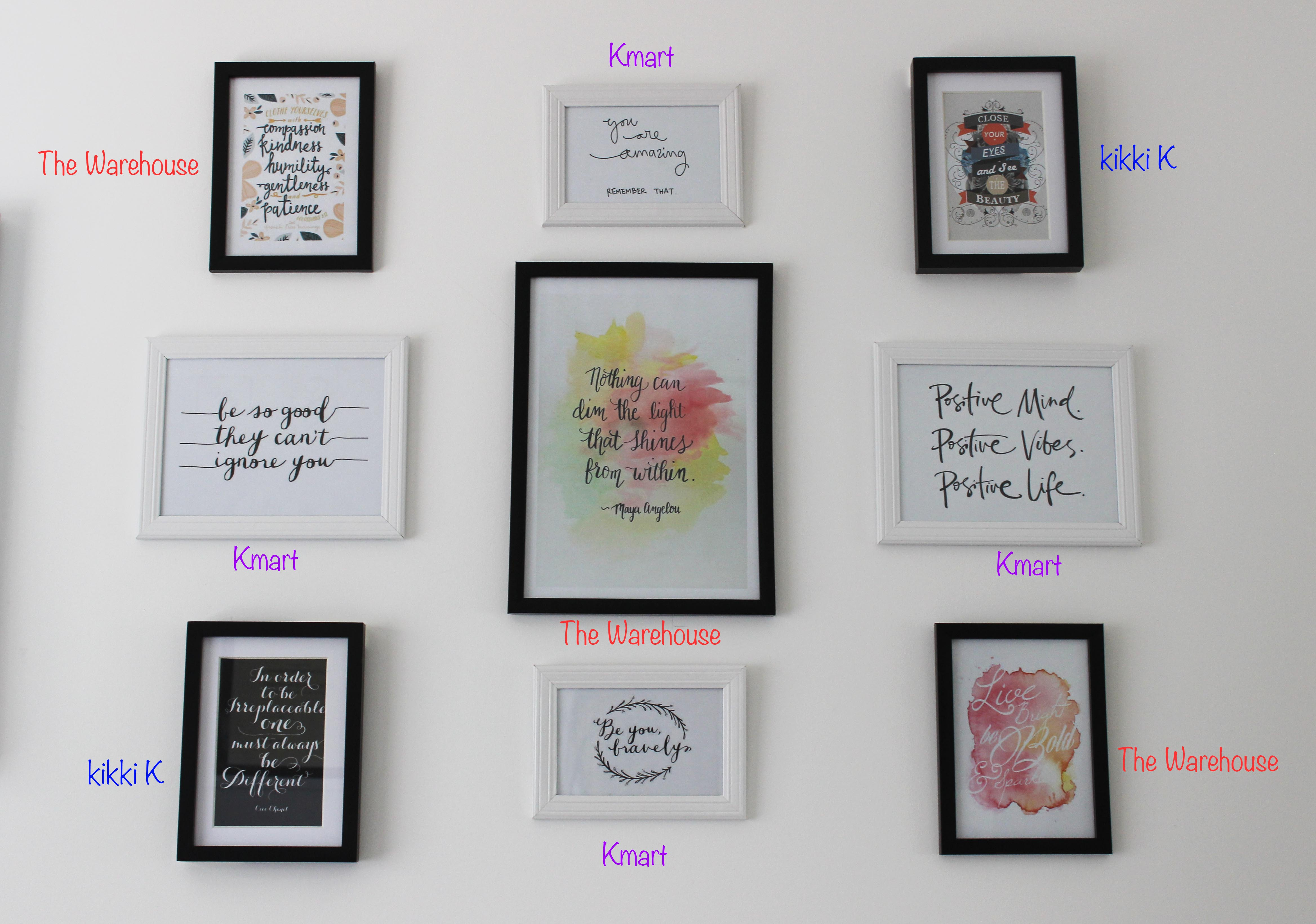 wall art home decor quotes prints the frames are either from kmart