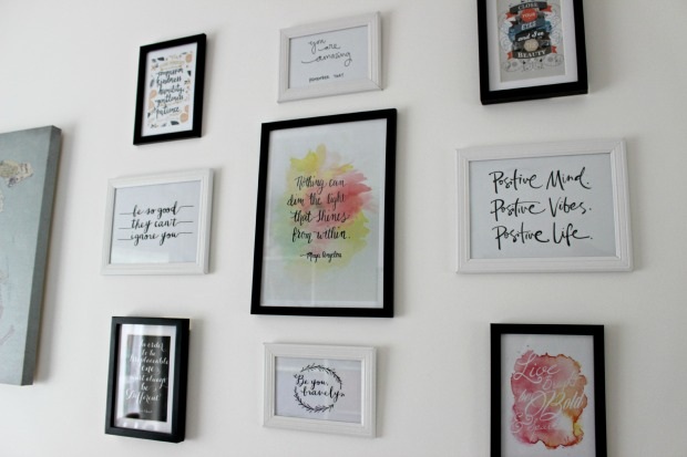 wall art prints home decor quotes