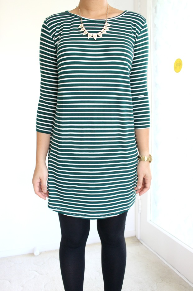stripes ootd dress