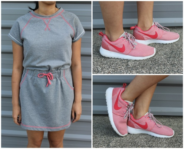 outfit ootd nike roshes dress