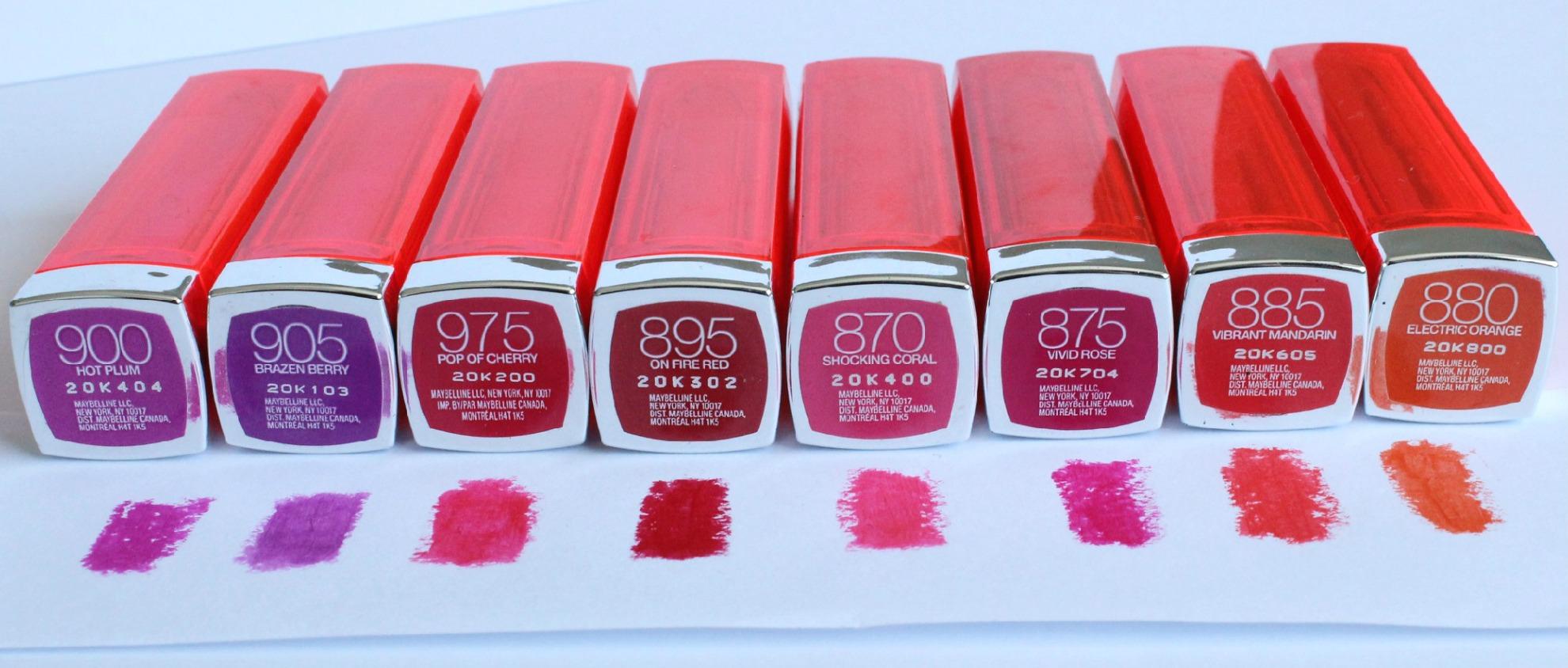 Maybelline Color Sensational Lipstick Shades