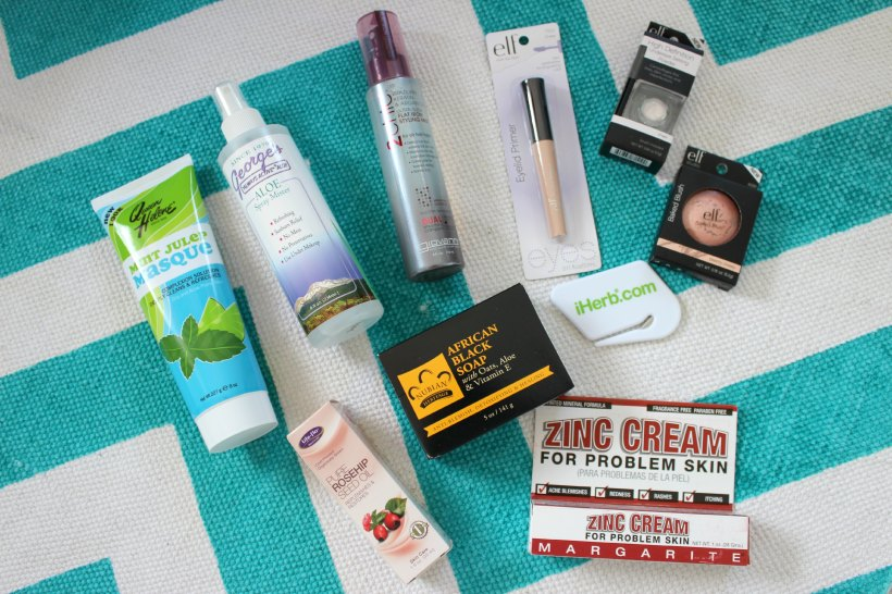 iherb haul cosmetics skincare elf makeup