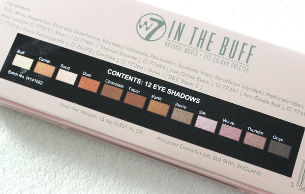 tics eyeshadows palette w7 natural nudes makeup