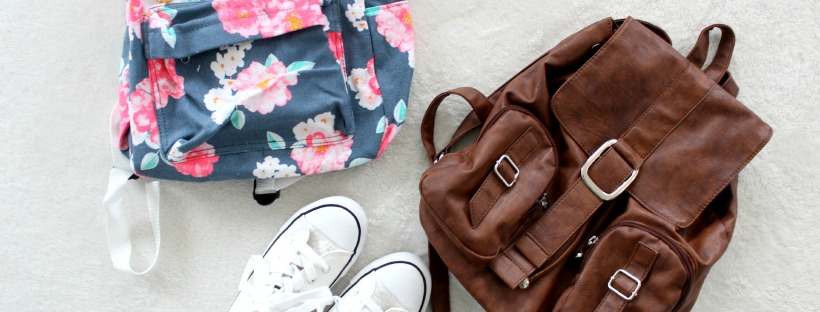 backpack floral sneakers thrifted