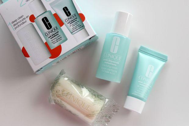 clinique 3-step system minis skincare anti-blemish solution