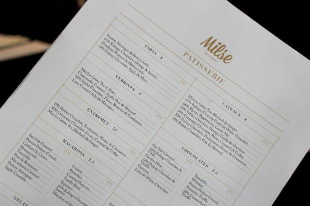 milse britomart desserts menu