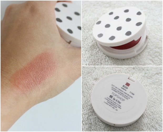 topshop beauty cosmetics makeup blush aorta swatch