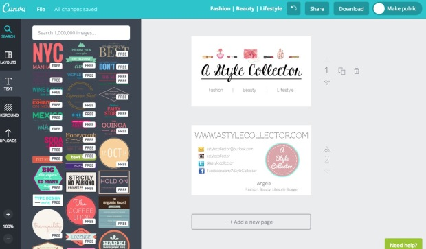 canva a style collector