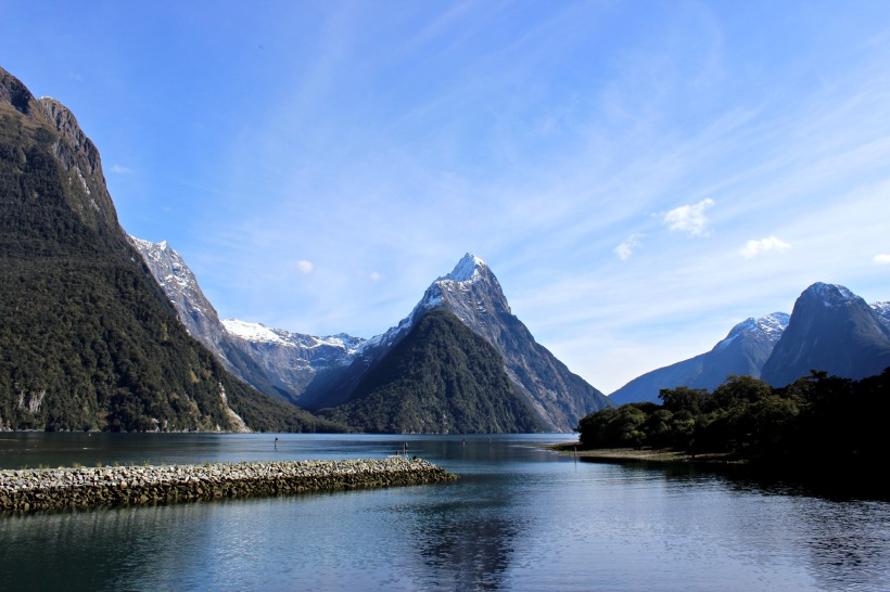 mitre peak milford sound nz new zealand travel