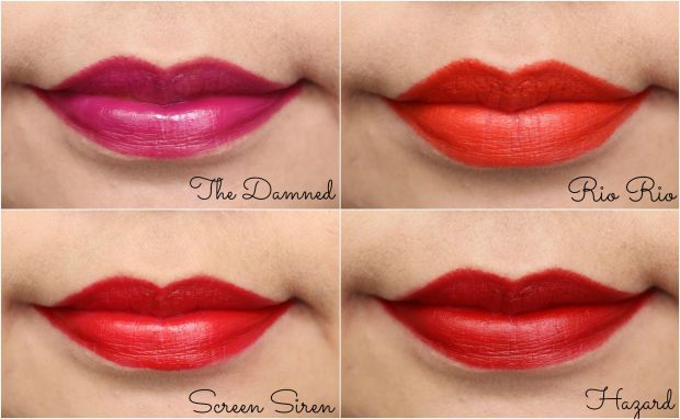 topshop lips swatches lipsticks
