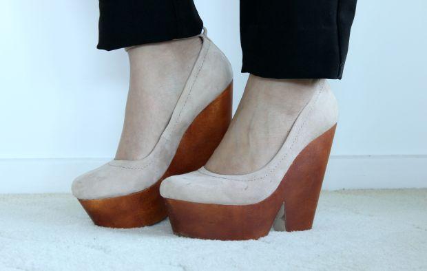 ootd outfit topshop wedges heels