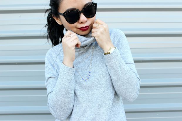 ootd outfit casual jewellery sunglasses lipstick