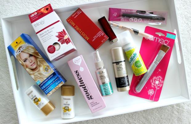 beauty review beauty box haul makeup skincare haircare