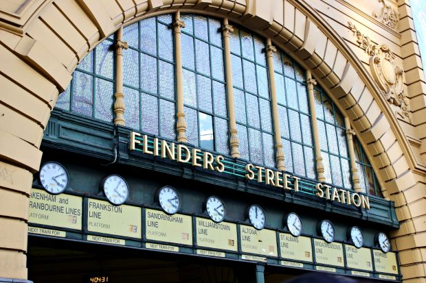 melbourne travel flinders street station building architecture
