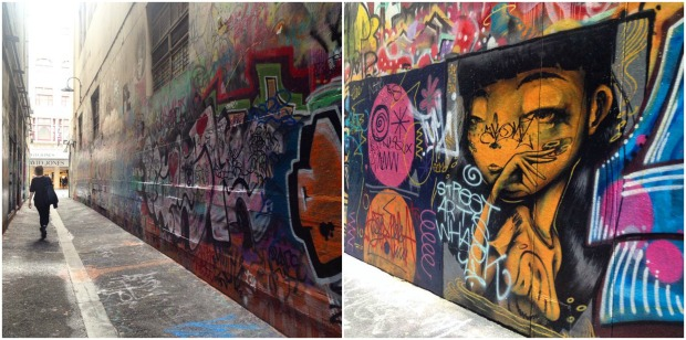 melbourne grafitti artwork street laneways