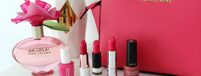 pink lipsticks nail polish beauty