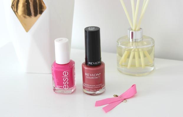 pink essie revlon nail polish