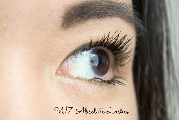 w7 absolute lashes mascara review