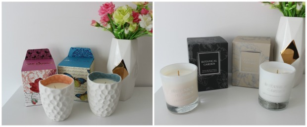 candles home decor flowers