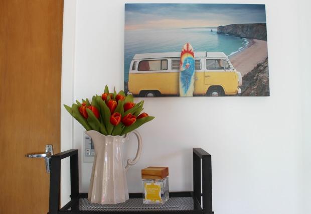 flowers tulips lounge home decor art