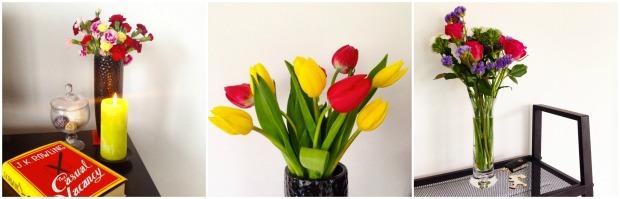 fresh flowers tulips vase home decor