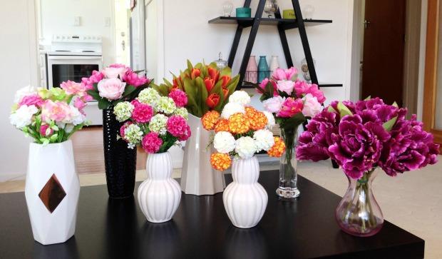 home decor flowers vases tulips