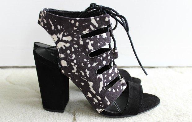 kmart fashion haul strappy heels