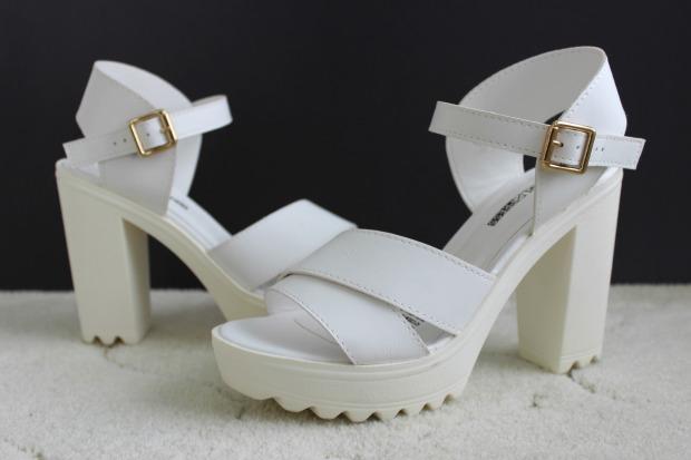 kmart fashion haul white platform heels shoes