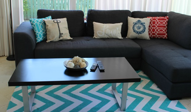 lounge couch coffee table rug home decor