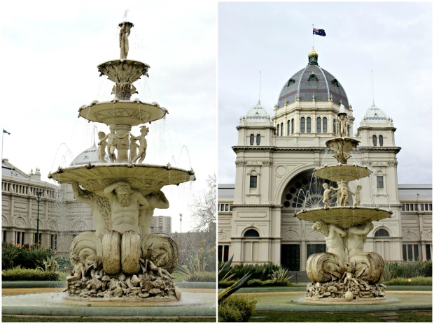 melbourne carlton gardens royal exhibition building fountain building architecture