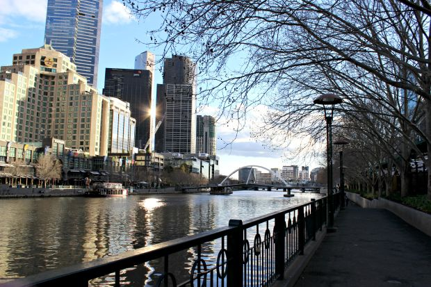 melbourne city travel yarra river buildings flinder walk