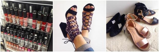 shoes makeup shopping haul