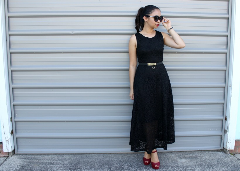 ootd outfit fashion lace dress belt