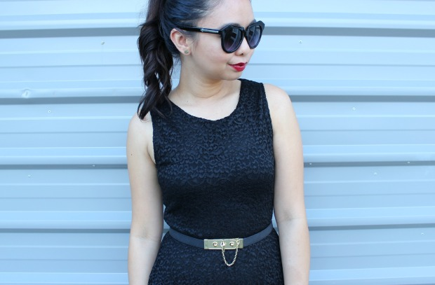 x-plain lace dress ootd outfit karen walker belt