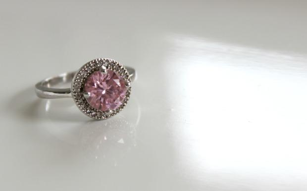jewellery haul pink ring diamond