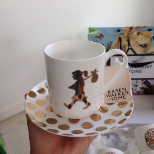 karen walker home mug saucer