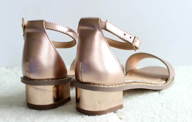 number one shoes rose gold sandals haul