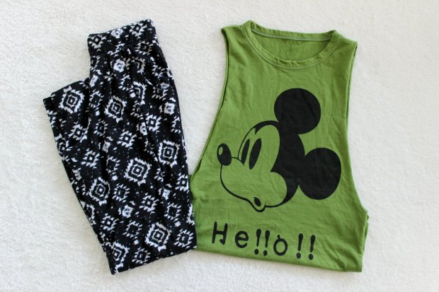 opshop thrift haul pants top