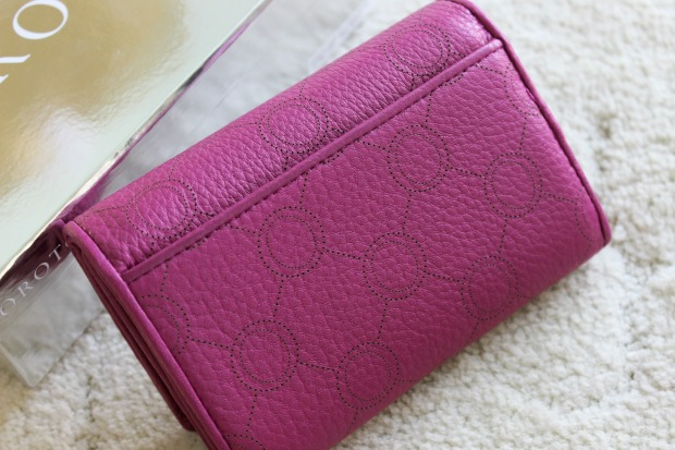 oroton wallet venice high fold berry