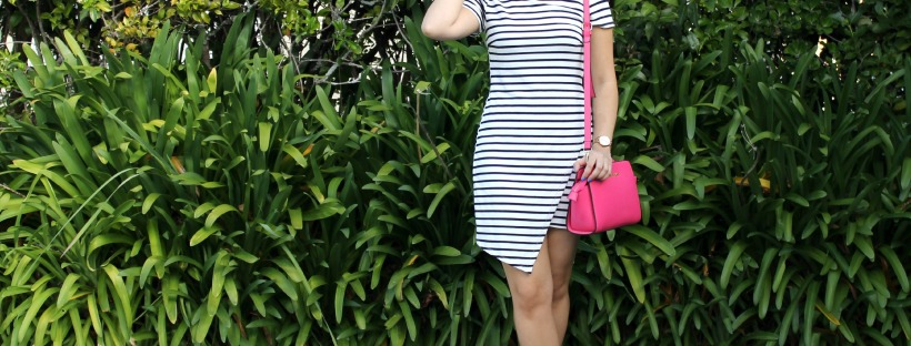 ootd outfit summer fashion stripes dress