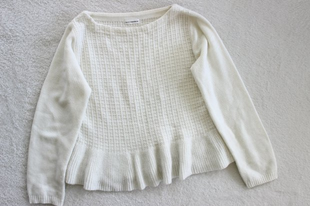 thrift haul opshop knit sweater