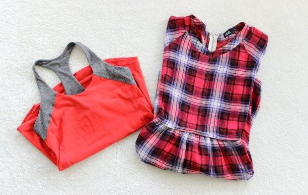 thrift opshop haul dress workout top