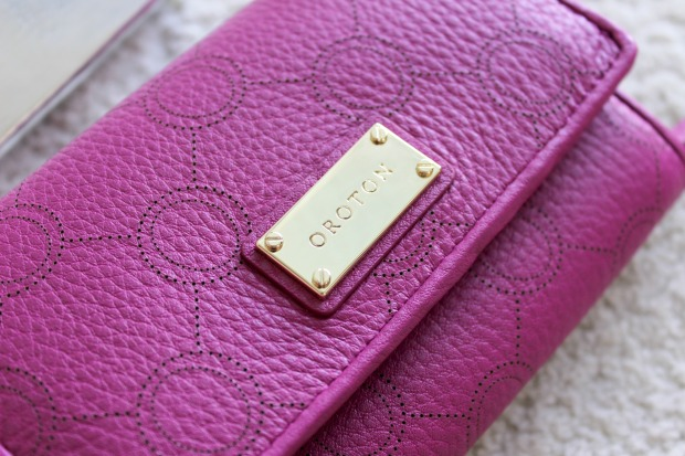 wallet oroton pink berry venice high fold