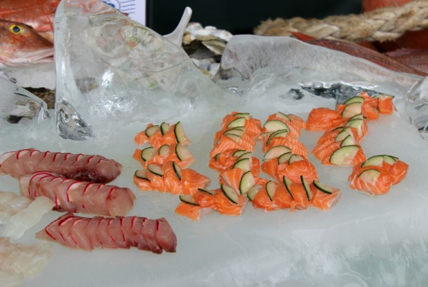 auckland seafood festival fish salmon food sashimi