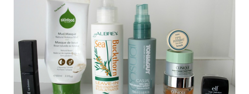 beauty product empties skincare haircare