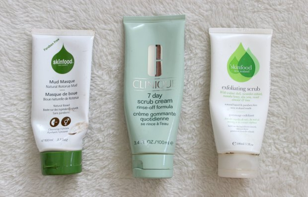beauty empties skinfood clinique face scrub mask