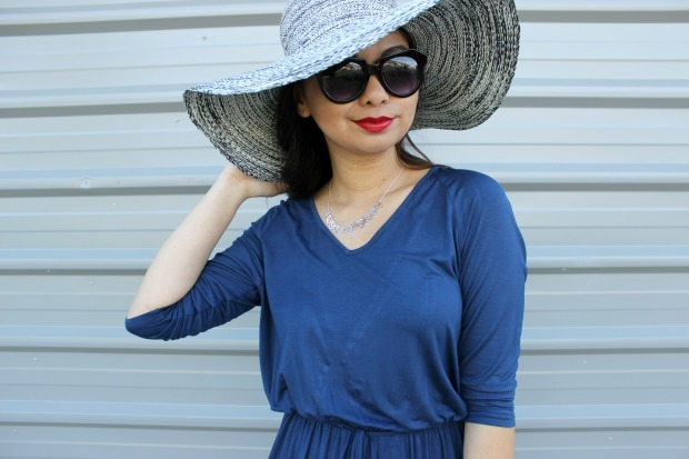 summer ootd outfit fashionlifenz dress hat sunglasses